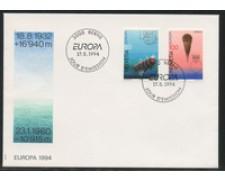 1994 - LOTTO/24591 - SVIZZERA - EUROPA 2v. - BUSTA FDC