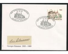 1994 - LOTTO/24593 - SVIZZERA - GEORGES SIMENON - BUSTA FDC