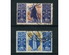 1948 - LOTTO/24602 - REPUBBLICA - POSTA AEREA - S. CATERINA 2v. - USATI