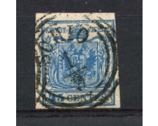 LOMBARDO VENETO - 1854/57 - LOTTO/24625 - 45 CENT. USATO A SCHIO