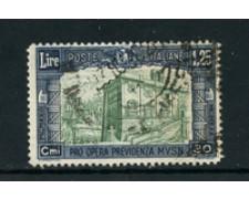 1930 - LOTTO/24638 - REGNO - 1,25+30cent. PRO OPERA PREVIDENZA MILIZIA - USATO