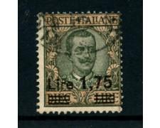 1924/1925 - LOTTO/24646 - REGNO - 1,75 SU 10 LIRE  OLIVA E ROSA  - USATO