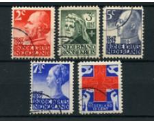 1927 - LOTTO/24656 - OLANDA - 60° CROCE ROSSA 5v. - USATI
