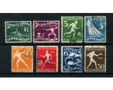 1928 - LOTTO/24657 - OLANDA -  9° GIOCHI OLIMPICI 8v. - USATI