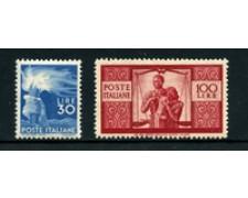 1945 - LOTTO/24674 - REPUBBLICA - 30 E 100 LIRE SERIE DEMOCRATICA - NUOVI