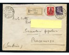 1944 - LOTTO/24693 - R.S.I. - BUSTA RACCOMANDATA DA COMO A PRESOMASO (SO)