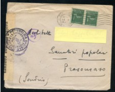 1944 - LOTTO/24695 - R.S.I.  - BUSTA DA COMO A PRASOMASO VERIFICATA CENSURA