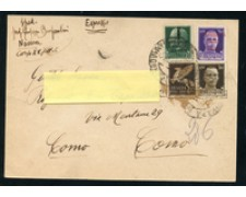 1944 - LOTTO/24696 - REPUBBLICA SOCIALE - CARTOLINA DA NOVARA A COMO