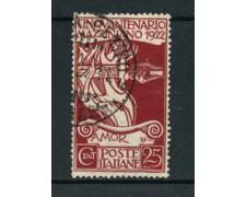 1922 - LOTTO/24703 - ITALIA REGNO - 25 cent. GIUSEPPE MAZZINI - USATO