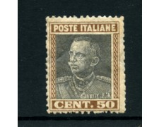 1927 - LOTTO/24708 - ITALIA REGNO - 50 cent.  EFFIGIE - LING.