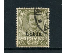1917/1918 - LIBIA - LOTTO/24964 - 45 CENTESIMI VITTORIO EMANUELE  III° - USATO