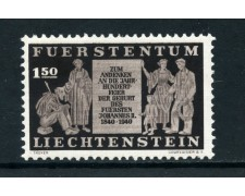 1940  LIECHTENSTEIN - 1,50 Fr. CENTENARIO NASCITA PRINCIPE GIOVANNI - NUOVO - LOTTO/25015