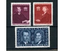 1943 liechtenstein - matrimonio del principe regnante 3v. - nuovi - lotto/25016
