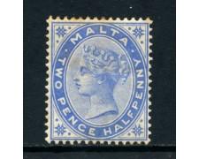 1885   MALTA -  2,5 PENCE  OLTREMARE - LINGUELLATO - LOTTO/25022