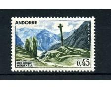 1961/1971  ANDORRA FRANCESE - 45 CENTESIMI VEDUTA - NUOVO - LOTTO/25028