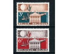1961  - BELGIO - UNIONE INTERPARLAMENTARE 2v. - NUOVI - LOTTO/25041