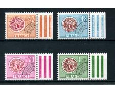 1975  FRANCIA - PREANNULLATI  MONETA GALLICA 4v. NUOVI - LOTTO/25067