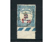 1929  FRANCIA - SEGNATASSE 1,20 SU 2 FRANCHI USATO - LOTTO/25069
