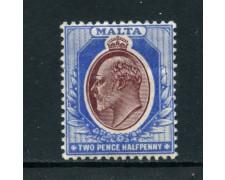 1903 - MALTA - 2,5p. OLTREMARE BRUNO EDOARDO VII° - NUOVO - LOTTO/25089