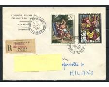 1963 - FRANCIA - OPERE D'ARTE 2v. - BUSTA RACCOMANDATA - LOTTO/25120