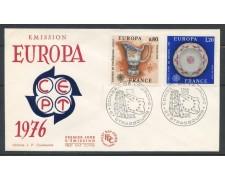 1976 - FRANCIA - EUROPA 2v. - BUSTA FDC ANNULLO DI STRASBURGO - LOTTO/25124