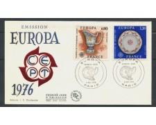 1976 - FRANCIA - EUROPA 2v.  BUSTA FDC ANNULLO DI PARIGI - LOTTO/25125