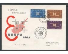 1963 - CIPRO - EUROPA 3v. - BUSTA FDC - LOTTO/25138