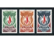 1975 - FRANCIA - UNESCO DIRITTI DELL'UOMO 3v. - NUOVI