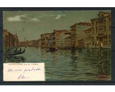 1900 - ITALIA - VENEZIA CARTOLINA A COLORI  CANALAZZO DA S.TOMA' - VIAGGIATA - LOTTO/25180