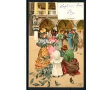 1900 - ITALIA - VENEZIA - CARTOLINA A COLORI  I COLOMBI - VIAGGIATA - LOTTO/25181