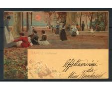 1902 - ITALIA - NAPOLI CARTOLINA A COLORI VILLA NAZIONALE - VIAGGIATA - LOTTO/25182