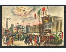 1949 - ITALIA - CARTOLINA PUBBLICITARIA A COLORI FIERA DI MILANO - VIAGGIATA - LOTTO/25189