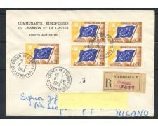1963 - FRANCIA SERVIZIO - 20 CENT. CONSIGLIO D'EUROPA  BUSTA RACCOMANDATA - LOTTO/25190