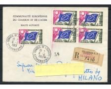 1963 - FRANCIA - SERVIZIO - 25 CENT. CONSIGLIO D'EUROPA - BUSTA RACCOMANDATA - LOTTO/25191