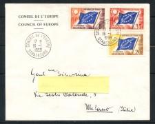 1959 - FRANCIA - SERVIZIO 8/20/25 CENT. CONSIGLIO D'EUROPA - BUSTA VIAGGIATA - LOTTO/25193