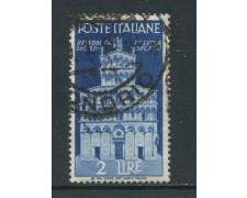 1946 - ITALIA REPUBBLICA - 2 LIRE AVVENTO CON FILIGRANA SINISTRA ALTA - USATO - LOTTO/25225