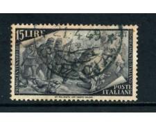 1948 - ITALIA - 15 LIRE CENTENARIO RISORGIMENTO - USATO - LOTTO/25237