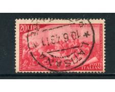 1948 - ITALIA REPUBBLICA - 20 LIRE CENTENARIO RISORGIMENTO - USATO - LOTTO/25238D