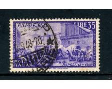 1948 - ITALIA REPUBBLICA - 35 LIRE RISORGIMENTO ESPRESSO - USATO - LOTTO/25241A