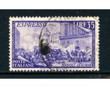 1948 - ITALIA REPUBBLICA - 35 LIRE RISORGIMENTO ESPRESSO - USATO - LOTTO/25241B
