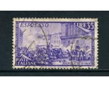 1948 - ITALIA REPUBBLICA - 35 LIRE RISORGIMENTO ESPRESSO - USATO - LOTTO/25241C