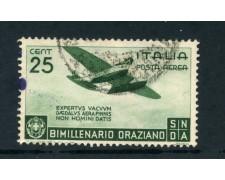 1936 - ITALIA REGNO - POSTA AEREA 25c.BIMILLENARIO ORAZIO - USATO - LOTTO/25244