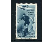 1934 - ITALIA REGNO - POSTA AEREA - 75c. CALCIO - USATO - LOTTO/25248
