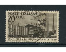 1949 - ITALIA REPUBBLICA - 27° FIERA DI MILANO - USATO - LOTTO/25251