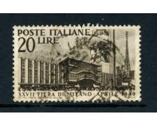 1949 - ITALIA REPUBBLICA - 27° FIERA DI MILANO - USATO - LOTTO/25251A