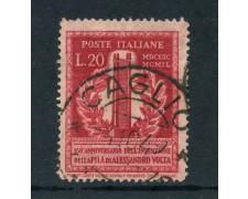 1949 - REPUBBLICA - 20 LIRE A. VOLTA - USATO - LOTTO/25255