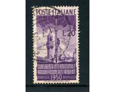 1950 - REPUBBLICA - 20 LIRE RADIODIFFUSIONE - USATO - LOTTO/25259