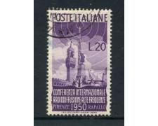 1950 - REPUBBLICA - 20 LIRE RADIODIFFUSIONE - USATO - LOTTO/25259A