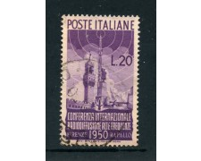 1950 - REPUBBLICA - 20 LIRE RADIODIFFUSIONE - USATO - LOTTO/25259B