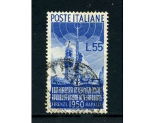 1950 - REPUBBLICA - 50 LIRE RADIODIFFUSIONE - USATO - LOTTO/25261